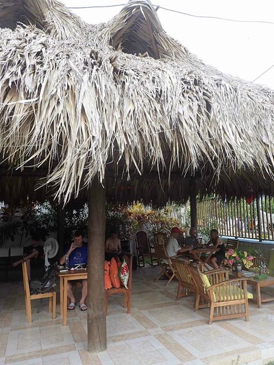 Shady bar and Wifi area at camp (photo credit: Sue's facebook page)