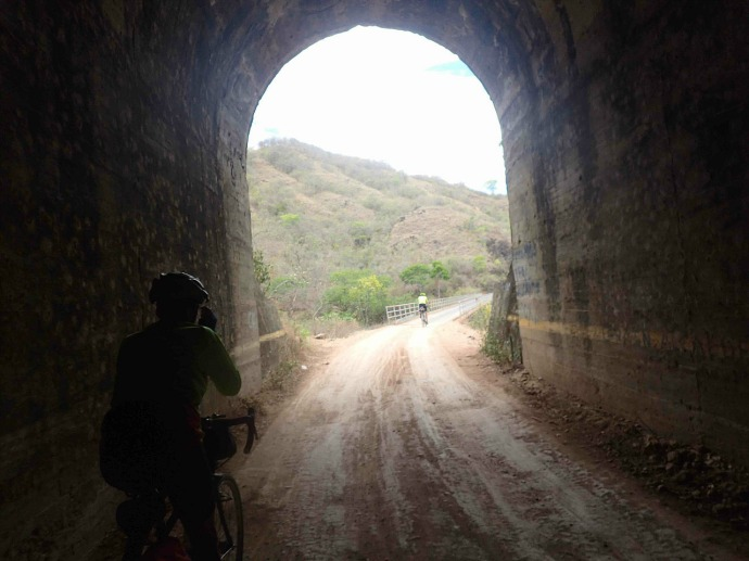 A tunnel on today's ride (Photo credit: Sue's blog)