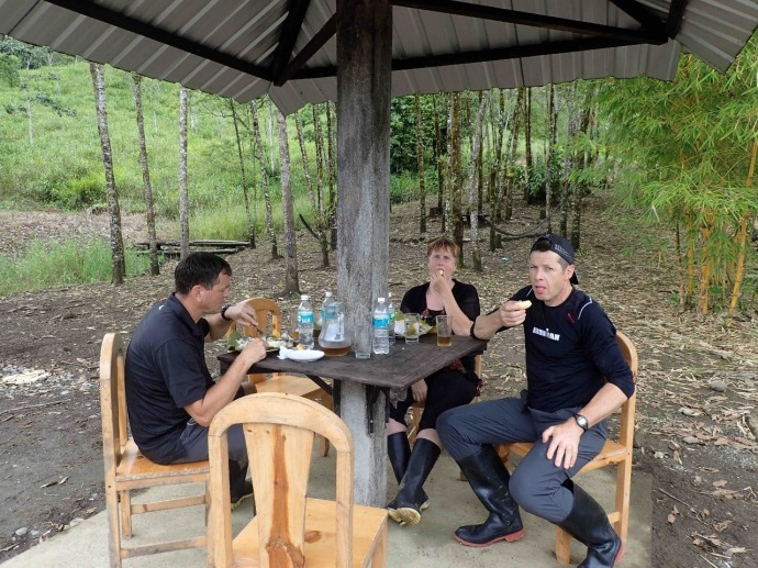 Amazonian Forest Lunch (Photo and caption credit: Sue's blog)