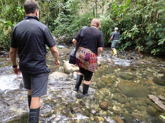 Fording streams (Photo and caption credit: Sue's blog)