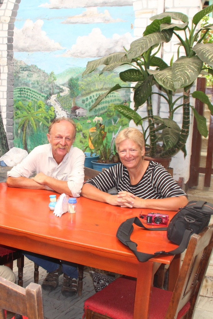 Erwin and Sue at lunch