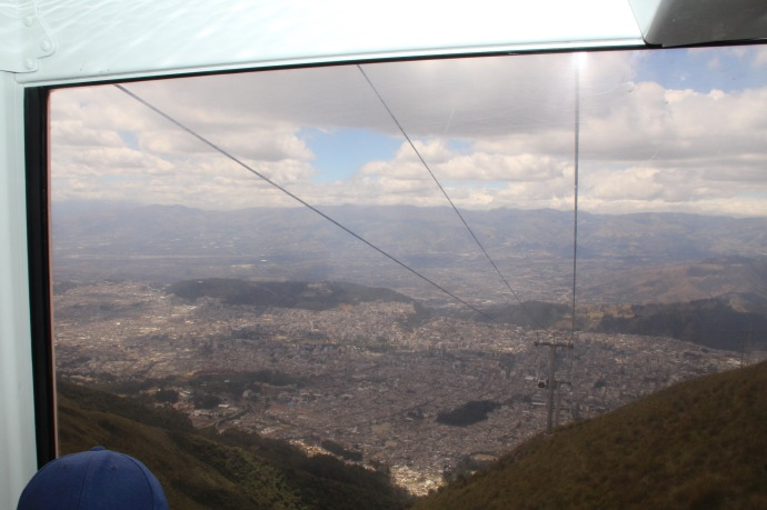 Inside the Teleferrico looking down