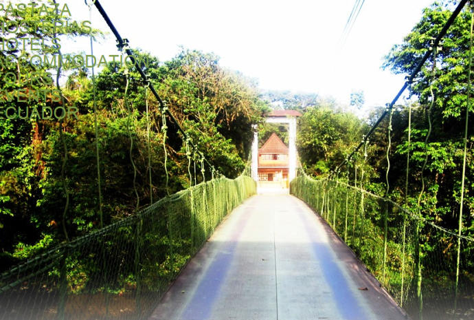 Suspension bridge entrance (Photo credit: Hotel website)