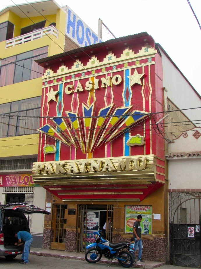 A glitzy casino in town (Photo and caption credit: Sue's blog)
