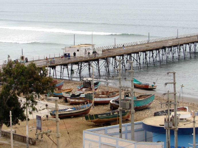 Old railway lines go to the pier (Photo and caption credit: Sue's blog)