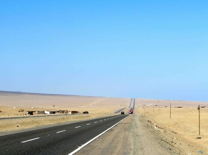 The Pan American Highway (Photo and caption credit: Sue's blog)