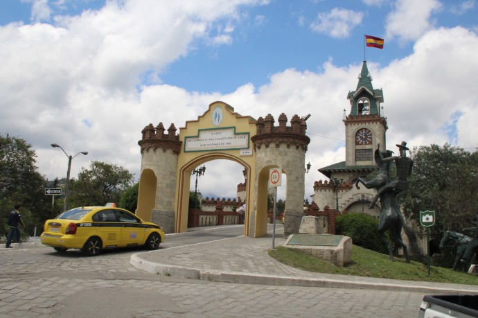 View of Puerta de Entrada Ala Giudad de Loja from the other side
