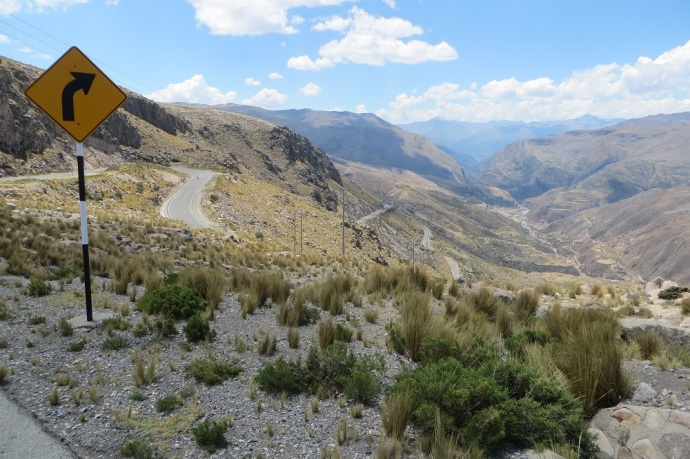 Up a bit and then a spectacular downhill - the craziest switchbacks (Photo and caption credit: Laura and Greg's blog)