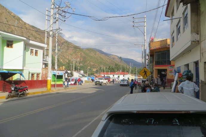 One of the towns we passed through (Casinchihua). The main street and the highway are one and the same, so the big rigs going through town fill up the street (Photo and caption credit: Laura and Greg's blog)