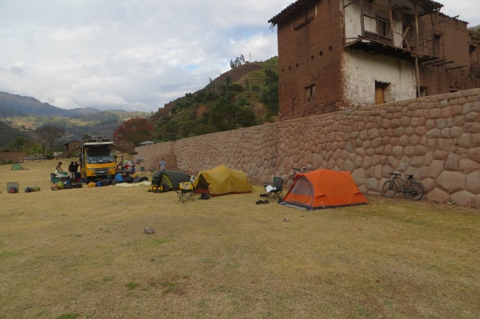 We are camping at the Tarawasi Archaeological site, apparently originated by the Incas (Photo and caption credit: Laura and Greg's blog)