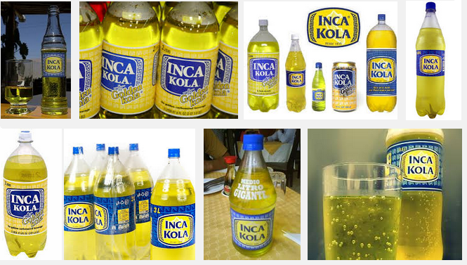 Inca Cola (Editor's note: Apparently Peru is the one place that this isn't owned by Coca Cola)
