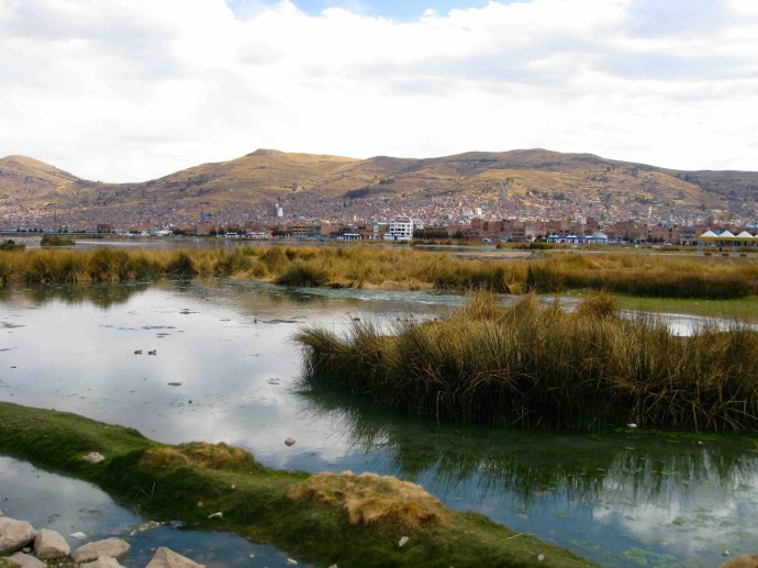 Lake Titicaca from Puno (Photo and caption credit: Sue's blog)