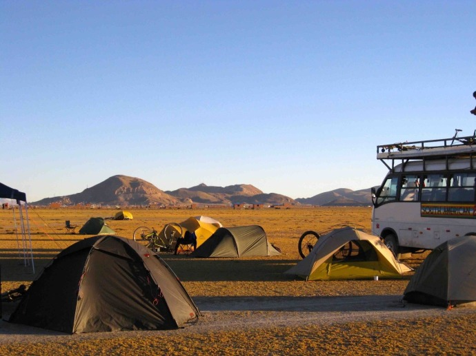 Bush camp tonight 10km outside Oruro (Photo credit: Sue's blog)