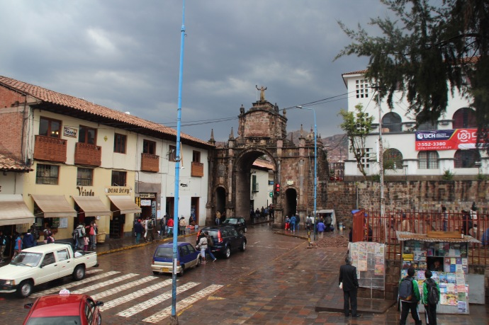 Town gate in Cusco