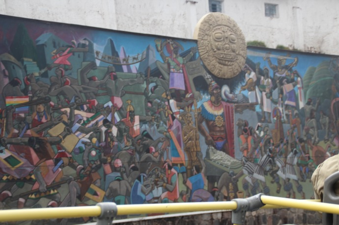 Interesting mural in Cusco