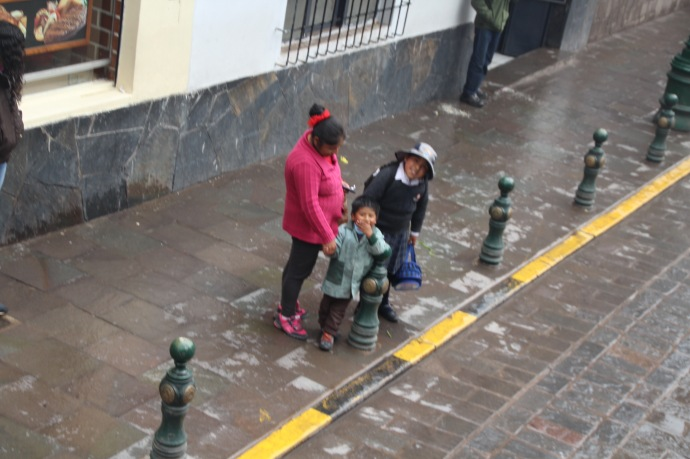 Small boy who waved and calked out whilst on your bus in Cusco
