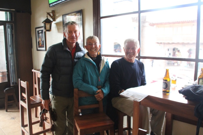 Dan, Shirley and Brett and boutique beer bar in Cusco