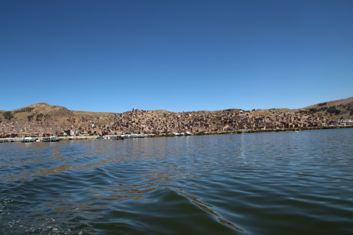 View of Puno from boat