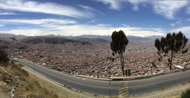 Coming down into La Paz