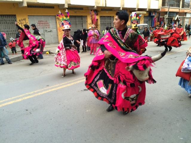 Street festival in La Paz
