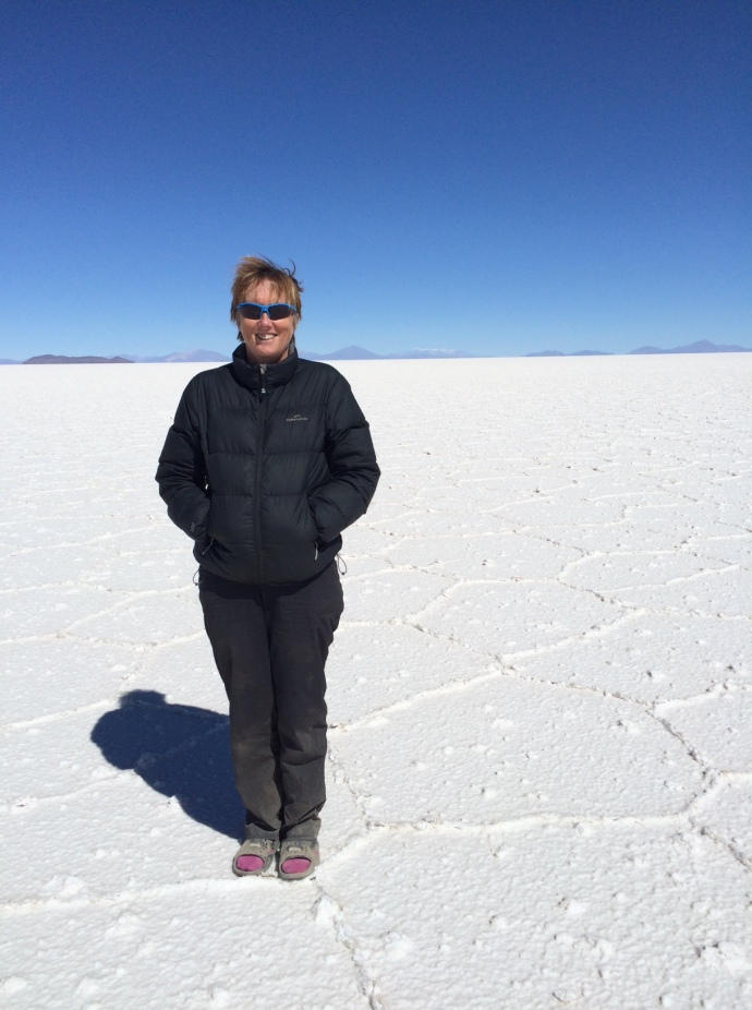 Me on the salt flats on the way to Uyuni
