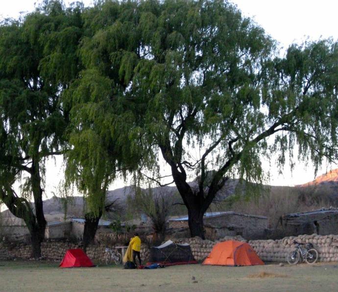 Tonight's campsite (Photo credit: Sue's blog)