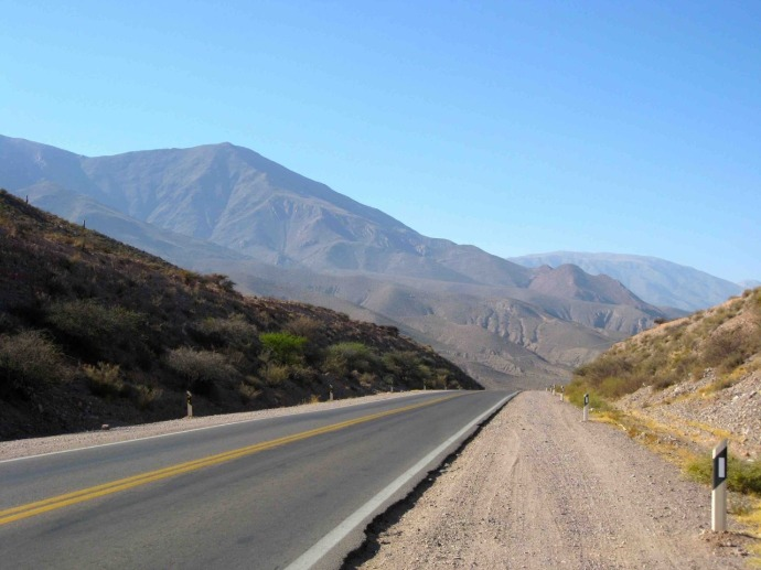 On the road today - into a headwind (Photo credit: Sue's blog)