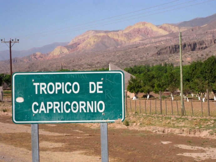 We crossed the Tropic of Capricorn early on this morning (Photo credit: Sue's blog)