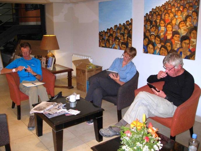 Hotel Reception at Salta  (Photo credit: Sue's blog)