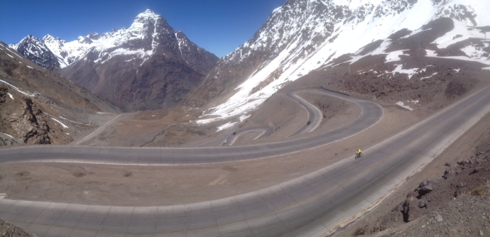 Switchbacks after the border crossing