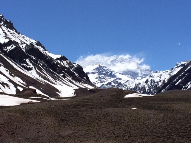 Cerro Aconcagua - 6595 meters. Highest mountain in South America and Western Hemisphere.