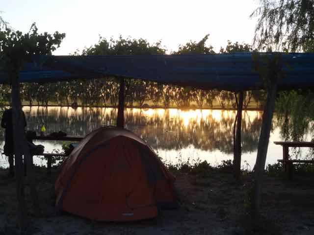 Sunset from our tent  (Photo credit: Jo's Facebook page)