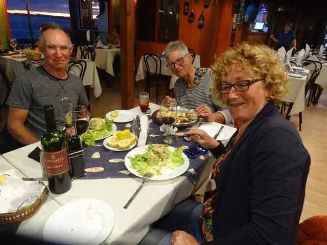 Dinner with Nick, Sue, & Nelli (Photo credit: Jo's Facebook page)