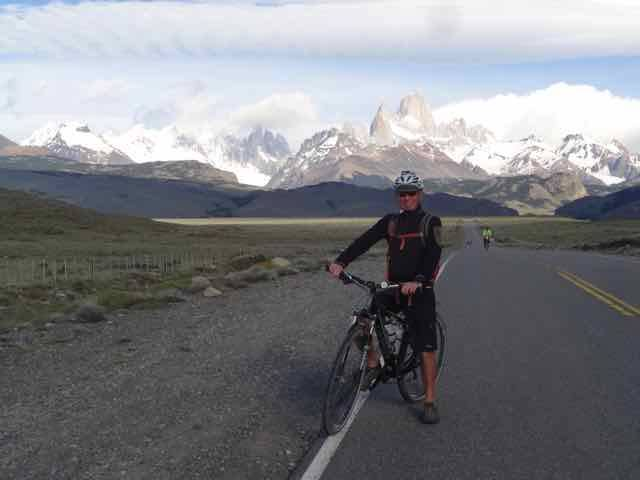 Leaving El Chalten, Cerro Torre in the distance (Photo credit: Jo's Facebook page)