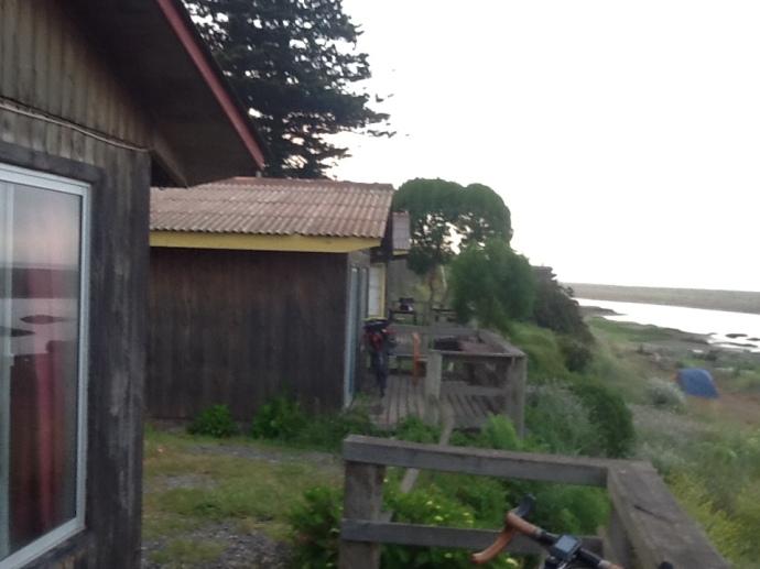 The cabin balcony at La Pesca