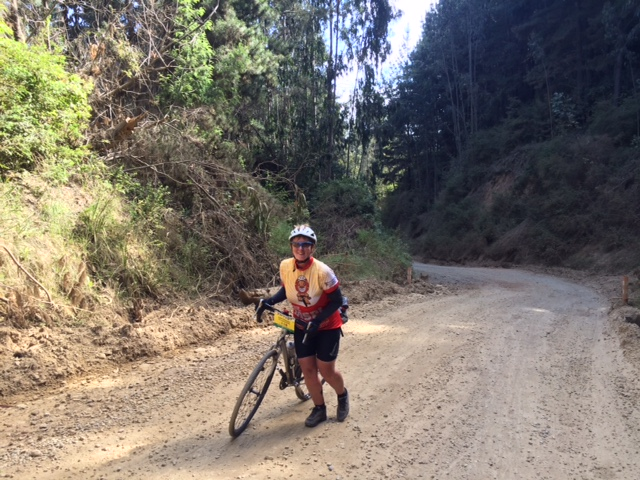 It may not look it, but this gravel is 19% gradient and wet and slippery